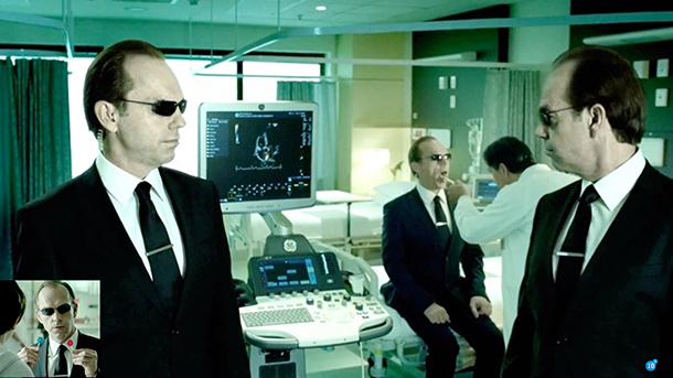 Agent Smith (from the Matrix) helping GE promote smart technologies.