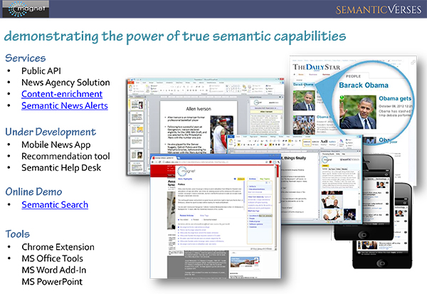 Semantic capabilities for desktop and mobile apps.