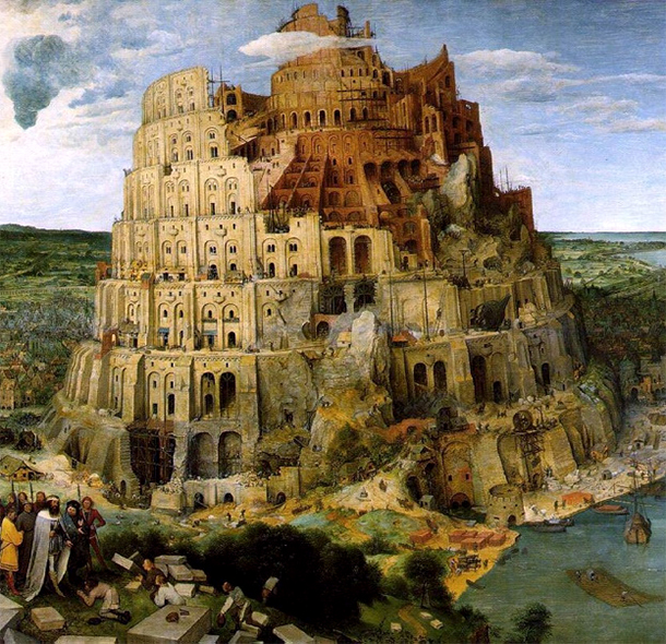 Source: Pieter Bruegel, Tower of Babel